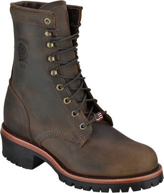 "Men's Chippewa Boots 8"" Steel Toe Work Boot 20091 