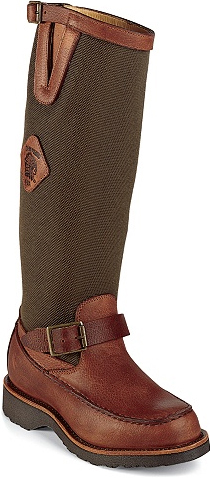 "Men's Chippewa Boots 17"" Back-Zip Pull-On Snake Boot 23922 - USA Made"