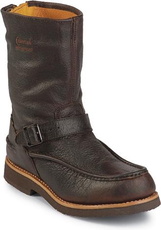 Men S Chippewa Boots 10 Quot Moc Toe Back Zipper Waterproof