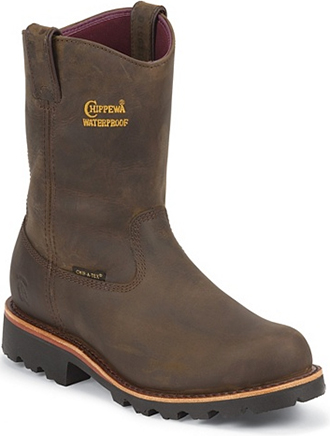 "Men's Chippewa Boots 10"" Waterproof Wellington Work Boot 25216 