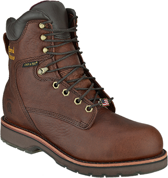 "Men's Chippewa Boots 8"" Steel Toe WP Work Boot 25227 