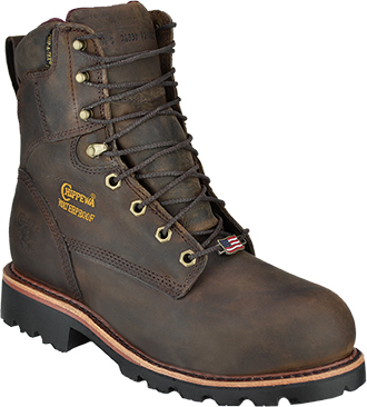 "Men's Chippewa Boots 8"" Steel Toe WP/Insulated Work Boot 26330 