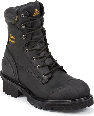"Men's Chippewa Boots 8"" Waterproof & Insulated Work Boot 55057"