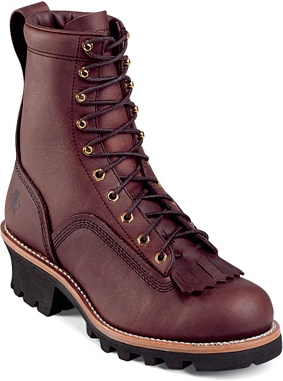 "Men's Chippewa Boots 8"" Logger Work Boot 73075"