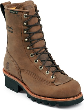 "Men's Chippewa Boots 8"" Waterproof Logger Work Boot 73100"