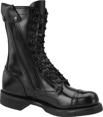 "Corcoran Boot XC1585 | Men's 10"" Leather Side Zipper Jump Combat Boots"
