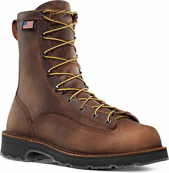 """Men's Danner 8"""" Steel Toe Work Boots (U.S.A.) 15548"""
