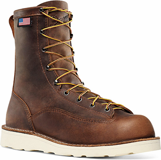 "Men's Danner 8"" Steel Toe Wedge Sole Work Boots (U.S.A.) 15558"
