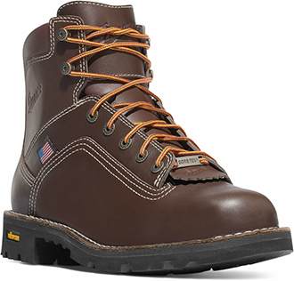 "Men's Danner 6"" Steel Toe WP Work Boots (U.S.A.) 17303"