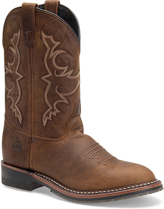 "Men's Double H Cowboy Boots DH3599 | Mens 10"" Black Ice Roper"