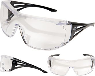 "Edge Ossa ""Fit Over Rx"" Non-Polarized Safety Glasses XF111-L"