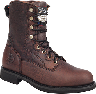 "Men's Georgia Boot 8"" Lacer Work Boot G008"