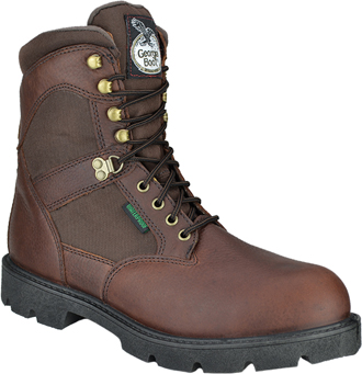 "Men's Georgia Boot 8"" Steel Toe WP/Insulated Work Boot G110"