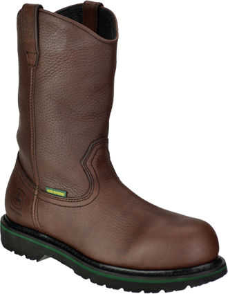 "Men's John Deere 10"" Waterproof Wellington Work Boots JD4283"