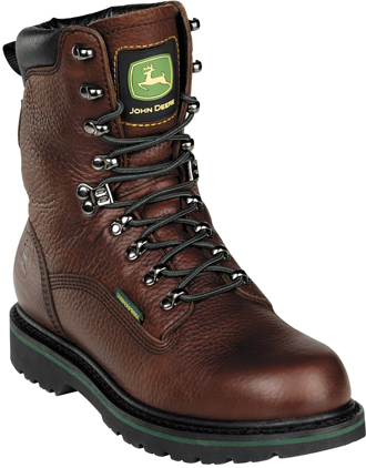"Men's John Deere 9"" Waterproof Work Boots JD8283"