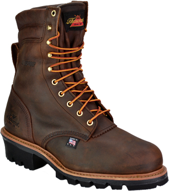 "Men's Thorogood 8"" Steel Toe Waterproof & Insulated Logger Work Boot (U.S.A.) 804-3550"