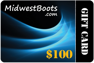 $100 MidwestBoots.com Gift Card