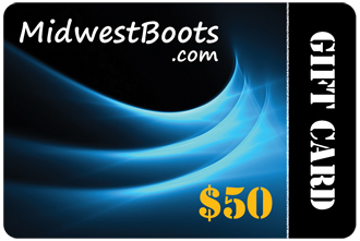 $50 MidwestBoots.com Gift Card