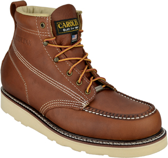 "Men's Carolina 6"" Wedge Sole Moc Toe Steel Toe Work Boots (U.S.A.) CA7503"