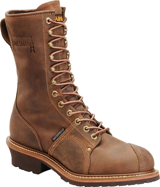 "Men's Carolina 10"" Waterproof Linesman Work Boots CA904"