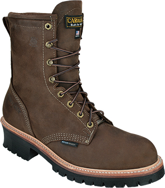 "Men's Carolina 8"" Waterproof Logger Work Boots CA919 