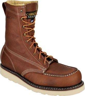 "Men's Carolina 8"" Wedge Sole Work Boots CA7002  (USA Made)"