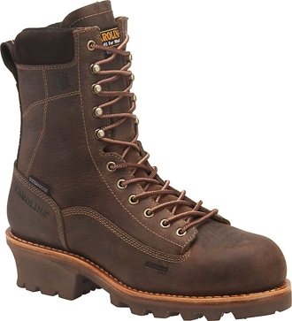 "Men's Carolina 8"" Insulated Waterproof Logger Work Boot CA7021"