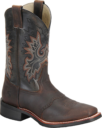 "Men's Double H 11"" Square Toe Roper Western Work Boots DH3258"