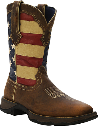 "Women's Durango 10"" Western Lady Rebel Patriotic Work Boots RD4414"