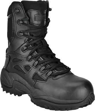 "Men's Reebok 8"" Stealth Side-Zipper Work Boots RB8875 (Replaces Converse C8875)"
