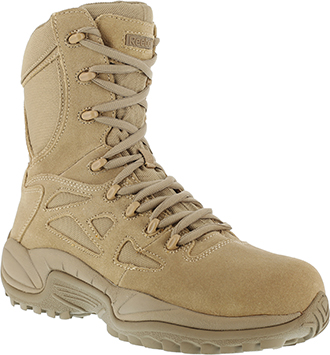 "Men's Reebok 8"" Stealth Side-Zipper Metal Free Work Boot RB8895"