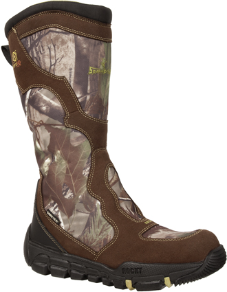 "Men's Rocky 16"" Maxprotect Side Zipper Snake Boot 5254"