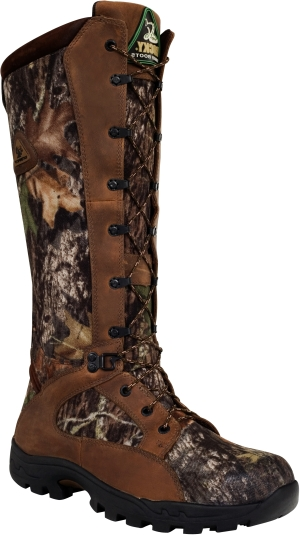 "Men's 16"" Rocky Waterproof Snake Proof Side Zip Hunting Boot 1581"