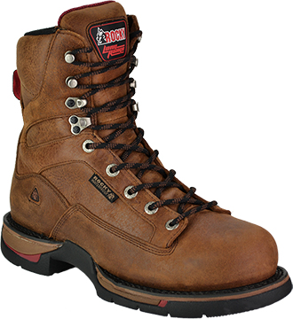 "Men's Rocky 8"" Long Range Waterproof Work Boot 8886"