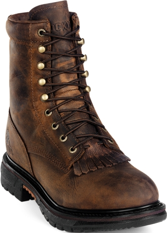 "Men's 8"" Rocky Waterproof Ride Lacer Work Boot 0002724"