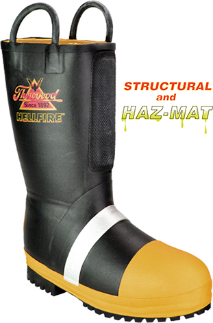 Men's Thorogood HellFire WP/Insulated Rubber Steel Toe Boot 807-6000