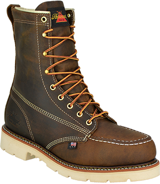 "Men's Thorogood 8"" Steel Toe Work Boot (U.S.A.) TH804-4378"