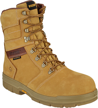 "Men's Wolverine 8"" Barkley Waterproof & Insulated Work Boots W04115"