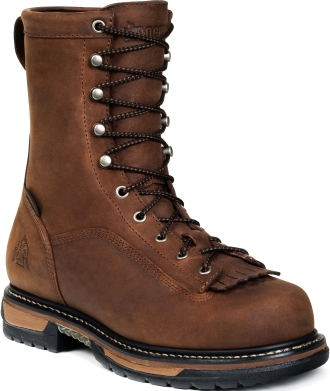 "Men's 9"" Rocky Iron Clad Waterproof Work Boots 5698"