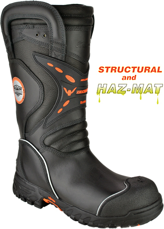 "Men's Thorogood HellFire 14"" Structural Fire Fighting Steel Toe WP Boot 804-6389"