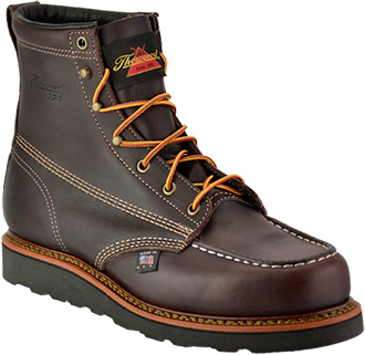 Thorogood Men's USA Made Moc Toe Wedge Sole Work Boot 814-4266  |  120th Anniversary Collection