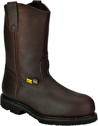"Men's Work One/Thorogood 10"" Steel Toe Wellington Metguard Work Boot (U.S.A.) 1707  