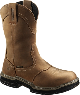 "Men's Wolverine 10"" Waterproof  Western Wellington Work Boots W02288"