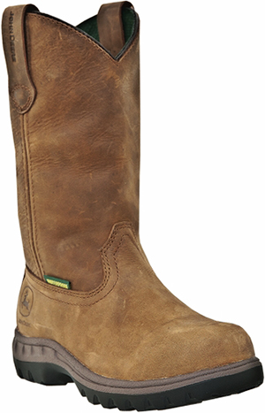 "Women's John Deere 10"" Waterproof Wellilngton Work Boots JD3204"