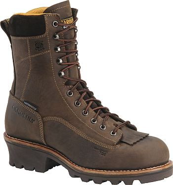 "Men's Carolina 8"" Logger Work Boots CA7022"