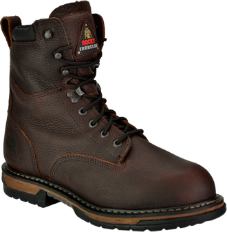 "Men's 8"" Rocky Iron Clad Waterproof & Insulated Work Boots 5694"