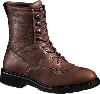 """Men's Wolverine 8"""" Kiltie Lacer Work Boots W04324"""
