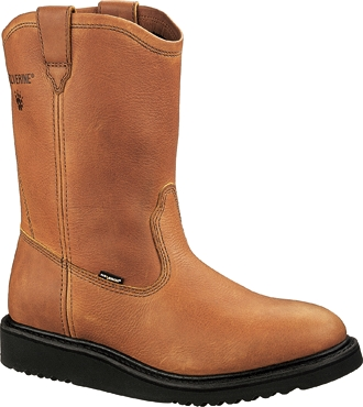 "Men's Wolverine 10"" Wedge Heel Wellington Work Boots W04695"