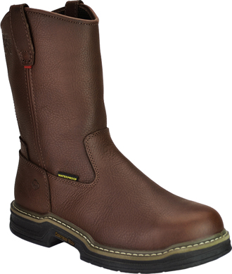 "Men's Wolverine 10"" Waterproof Wellington Work Boots W04827"