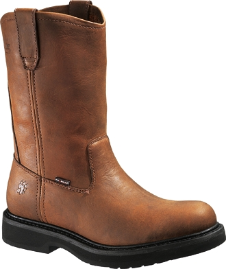 "Men's Wolverine 10"" Outside Heel Wellington Work Boots W06684"